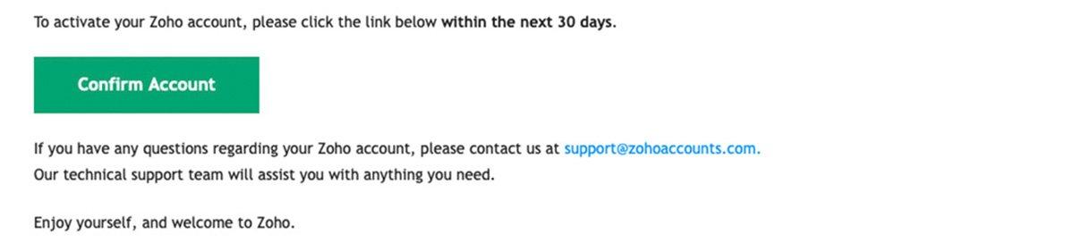 Confirm Zoho Mail