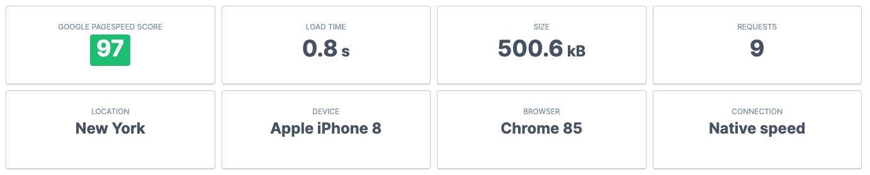 Bluehost Speed Test NewYork_Mobile