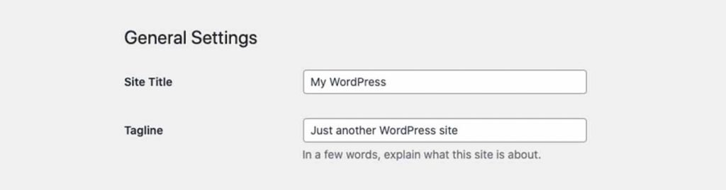 Chane Title Tagline WordPress