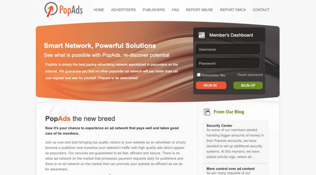 PopAds Ad Network