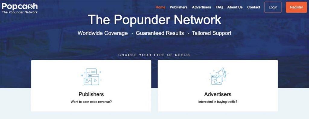 PopCash Pop-under Network